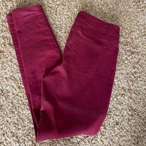 Blue spice brand skinny maroon pants